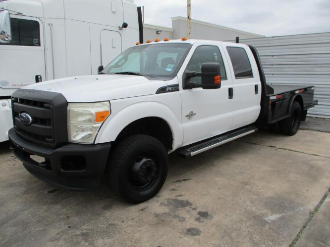2012 FORD F-350 FLATBED 4DR 9' FEET 4X4